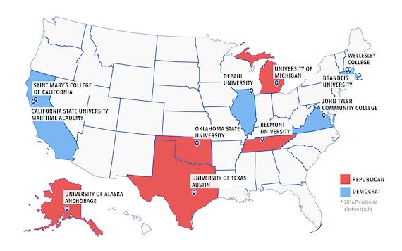 Institutional sample map