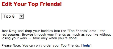 Edit Your Top Friends!