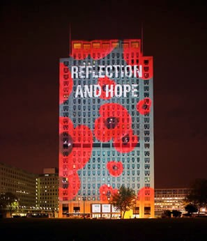 Shell centre as a projection surface