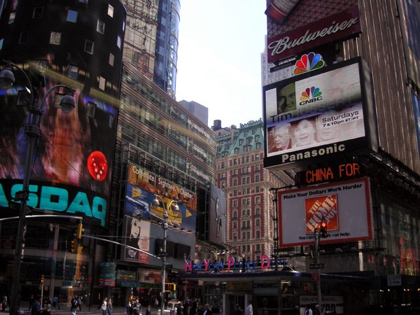 Figure 1: Times Square, 'the place where all roads meet'