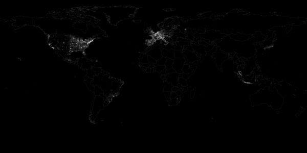 All Place coordinates in the Twitter Decahose 23 October 2012 to 30 November 2012
