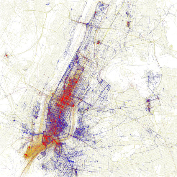 A comparison of locals versus tourists' movement in the city