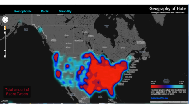 Geography of Hate Map