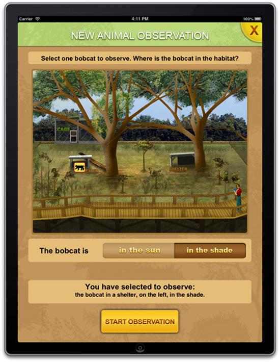 iPad animal observation worksheet #1