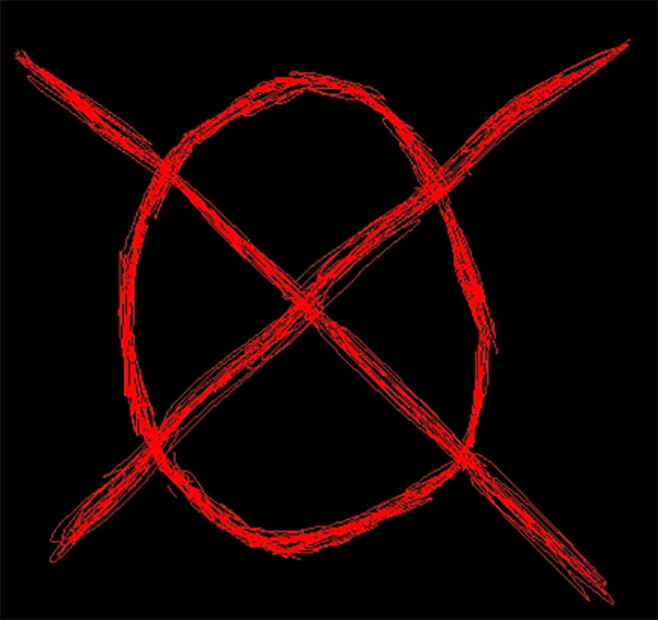 The operator symbol, from the Slender Man Wiki
