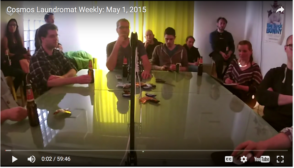 Cosmos Laundromat team reports weekly progress on YouTube, May 2015
