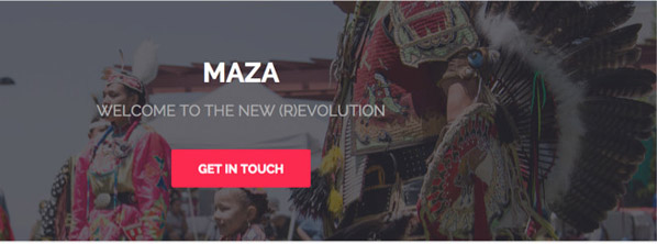 Screenshot of maza-online Web site