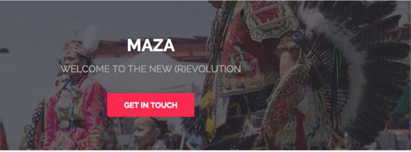 Screenshot of maza-online Web site