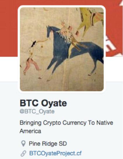 BTC Oyate Twitter profile