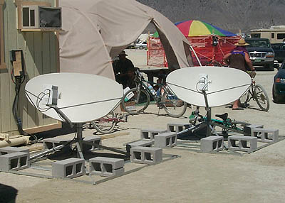 Tachyon satellite dishes
