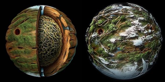 The planet Atys or Rootball