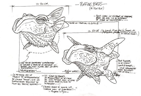 Design sketches for a Pufferbird (not implemented)