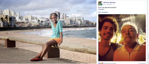 Examples of images of media producers on Facebook