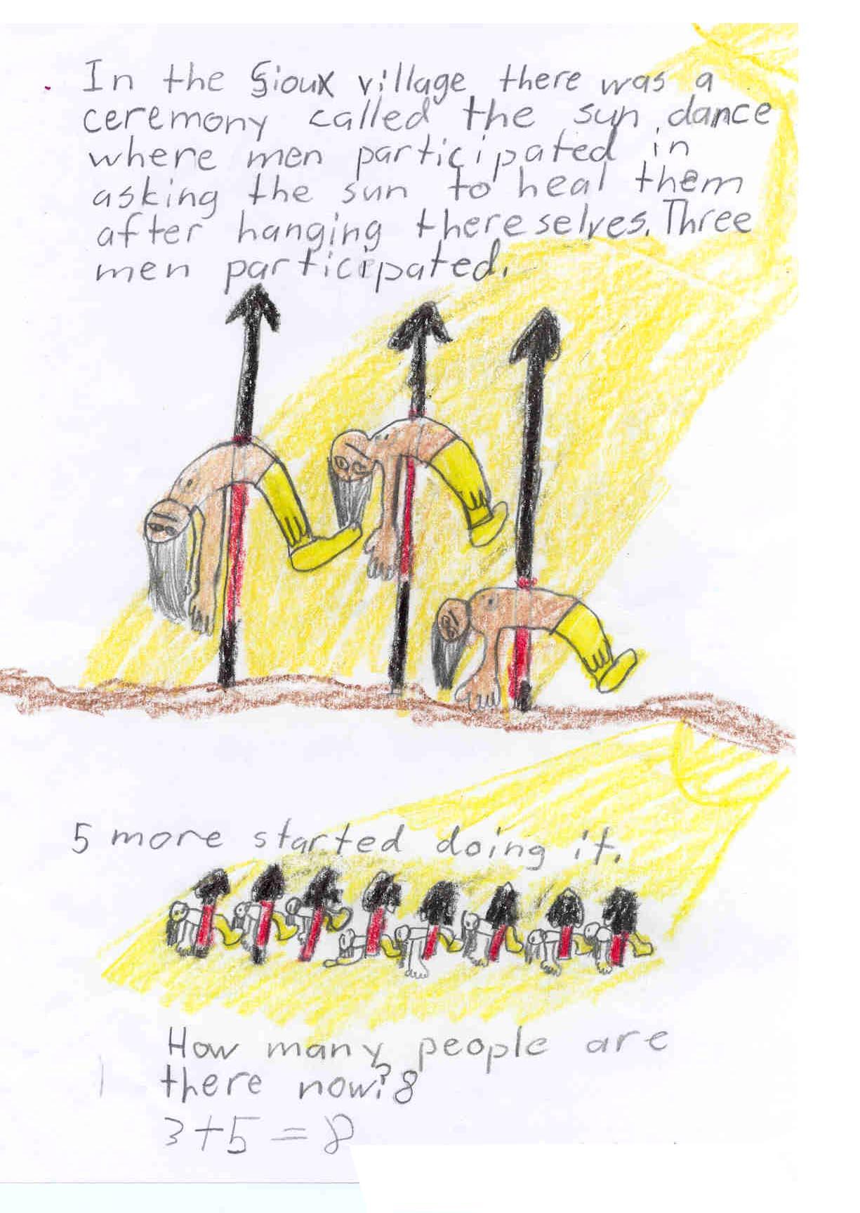 Jesse's Interpretation of Remington's The Sun Dance